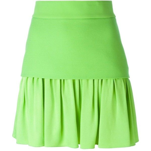 Fausto Puglisi pleated hem skirt (10.280 UYU) ❤ liked on Polyvore featuring  skirts 6859e8a68540