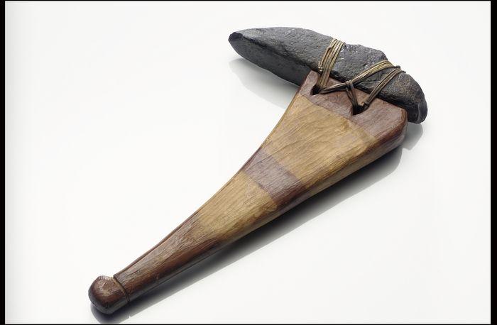 Hafted Adze For Woodworking Yup Ik Circa 1885 Kuskokwim