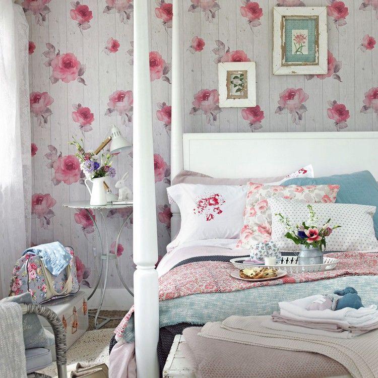 Shabby Chic Schlafzimmer die wandgestaltung im shabby chic schlafzimmer shabby chic stil