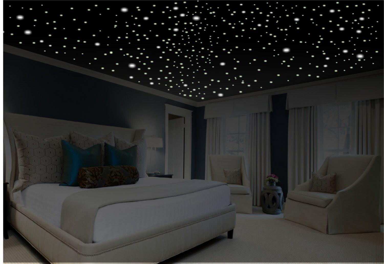 Romantic Bedroom Decor Star Wall Decal Glow In The Dark Stars