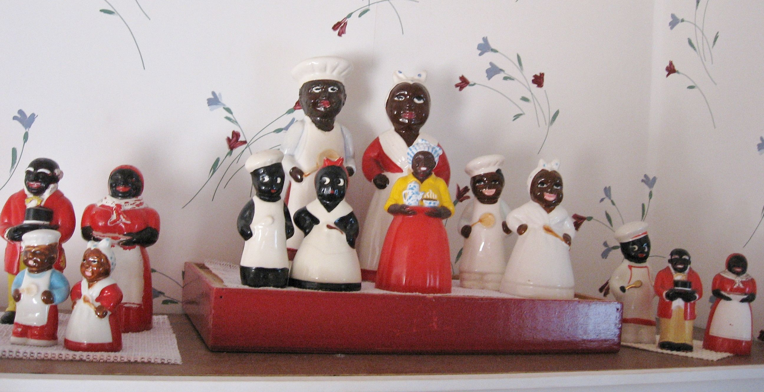 Aunt Jemima Kitchen Curtains Storage Baskets My Black Memorabilia Salt And Pepper Collection Of