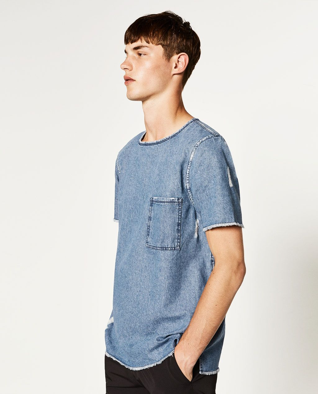 3a0dc340f7 Image 2 of DENIM T-SHIRT from Zara