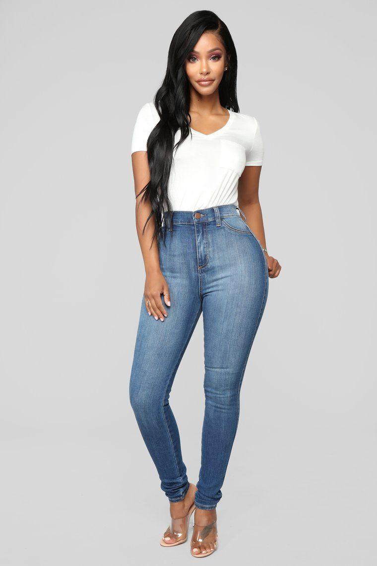 Luxe High Waist Skinny Jeans Medium High waisted jeans