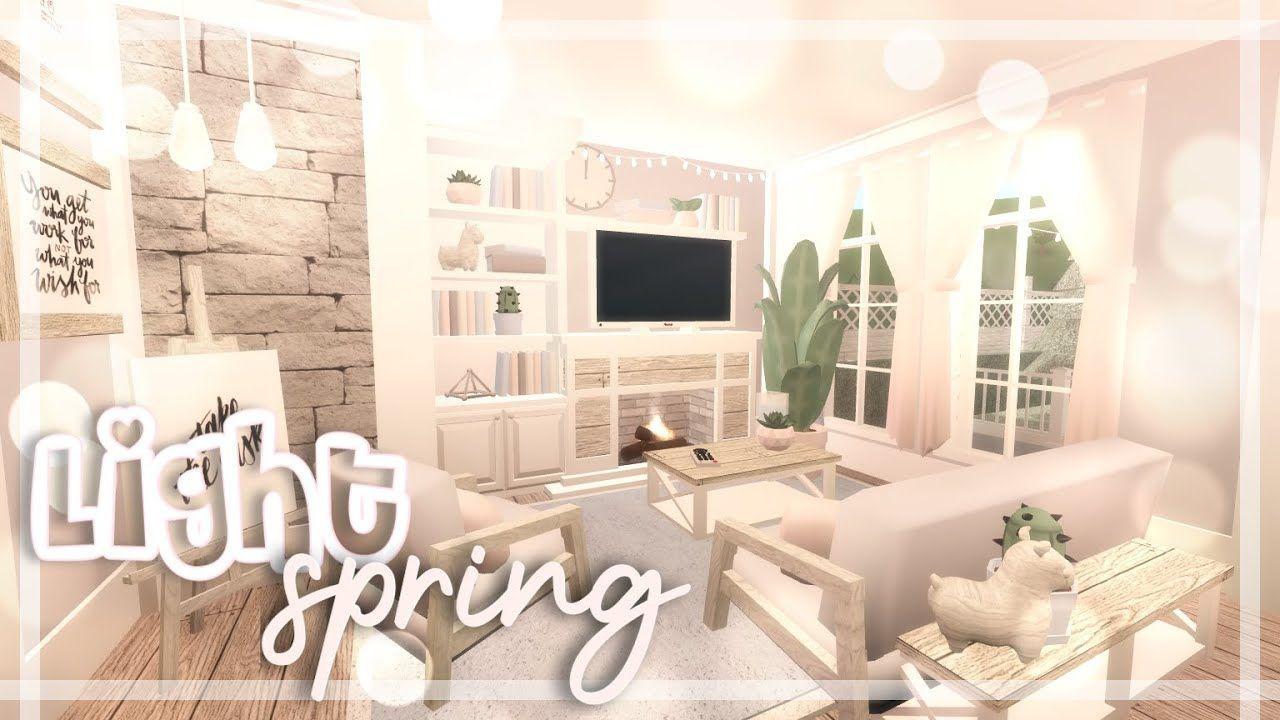 Light Spring Family Home Bloxburg Speedbuild Nixilia In 2021 House Decorating Ideas Apartments Luxury House Plans Cozy House Living room ideas bloxburg
