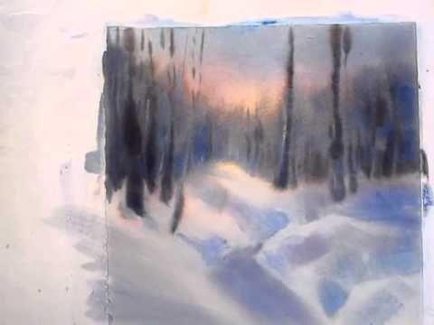 Sarah Yeoman Watercolor Video I Youtube Tuto Aquarelle
