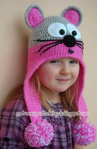 Patrones de gorro para niños al crochet | mimca | Pinterest | Para ...
