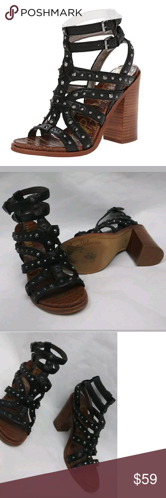 ed55607024af4 Sam Edelman Keith Embossed Footbed Studded Sandals Sam Edelman Keith Croc  Embossed Footbed Studded Sandal Size