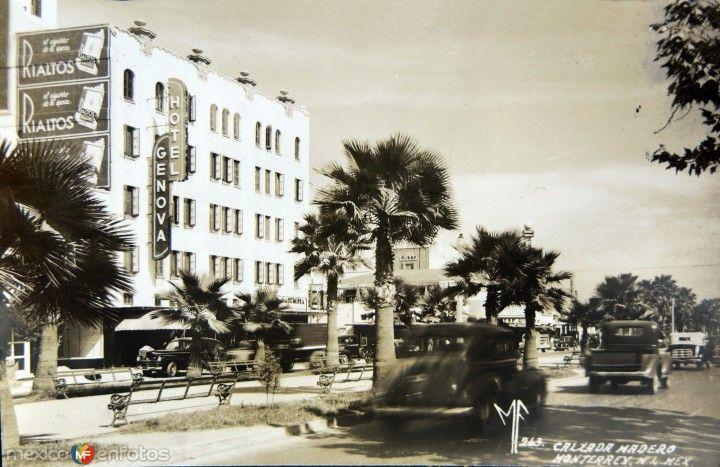 CALZADA MADERO circa 1930-1950 | Fotos de monterrey, Fotos ...