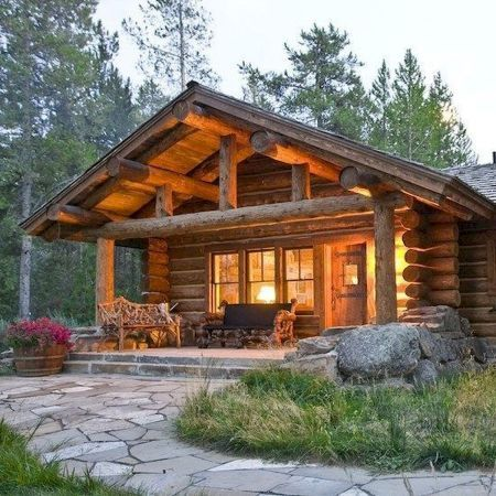 66 Best Small Log Cabin Homes (52 #logcabinhomes