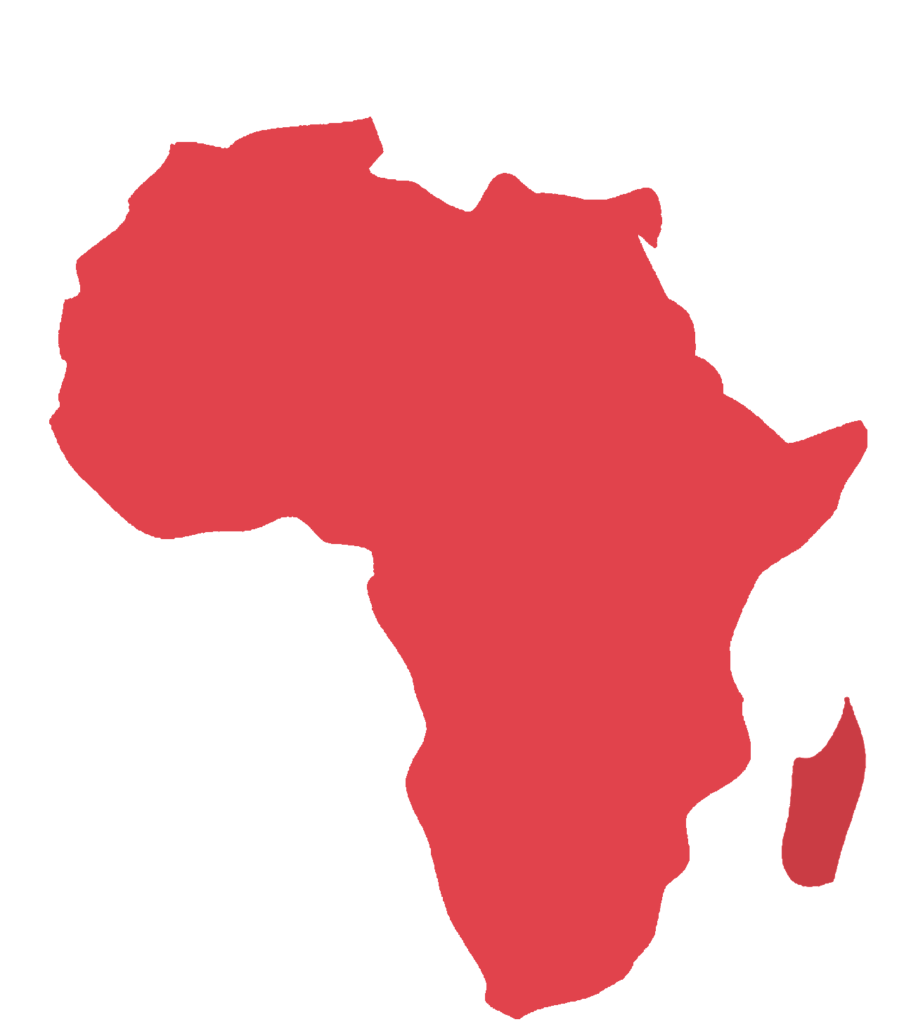 Red Africa Map Africa Map Novelty Red
