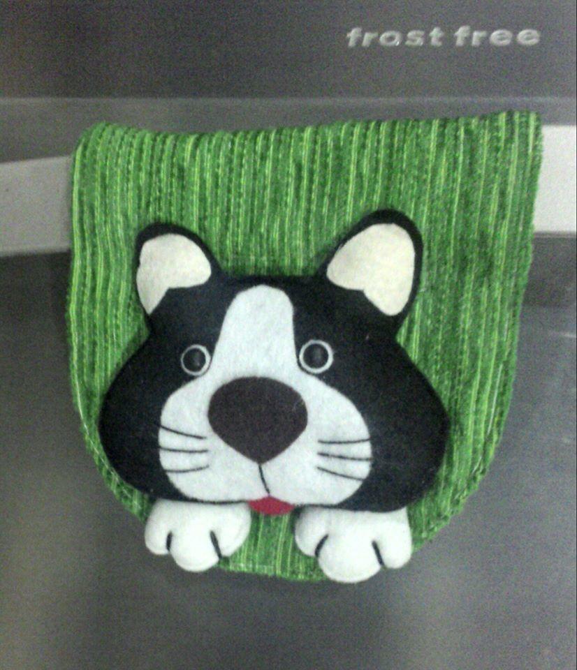 Protetor Puxador de Geladeira Cachorro | Angelica Mendonça | Elo7