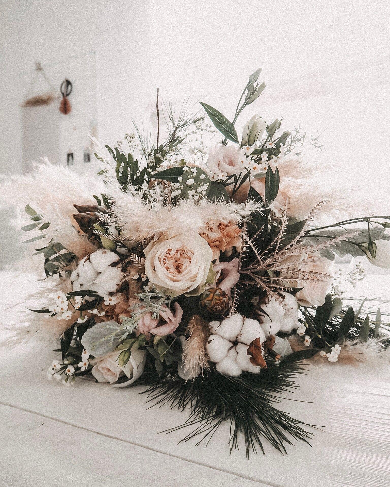 Boho Winterstrauß #florists