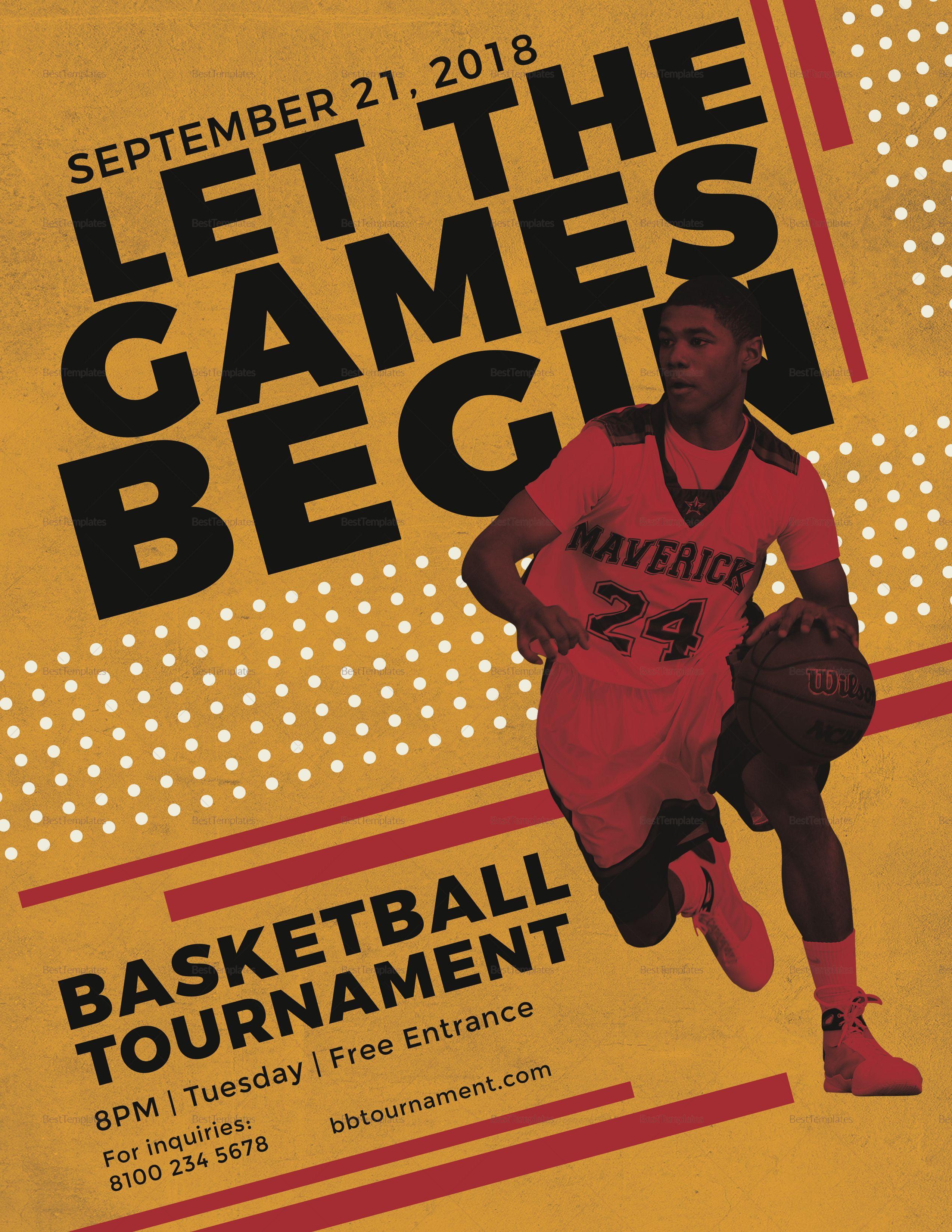 basketball tournament flyer template flyer templates pinterest