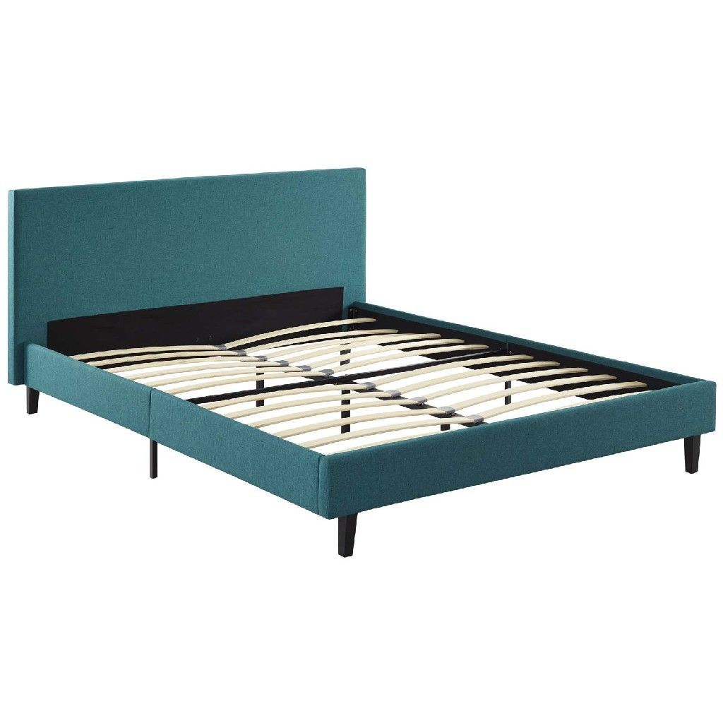 Anya Queen Bed Mod 5420 Tea In 2020 Upholstered Sleigh Bed