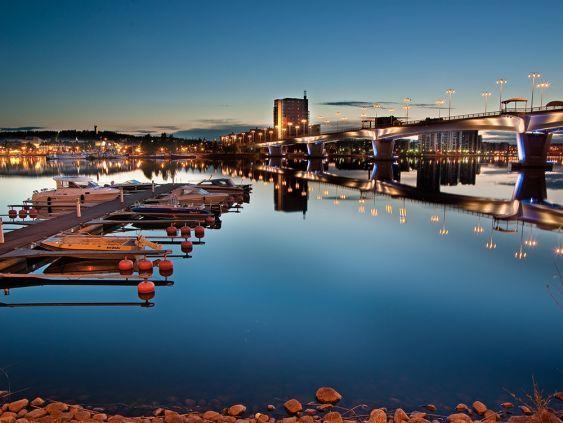 Jyväskylä, Kuokkala Bridge. Photo: City of Light/ Juhana Konttinen   Visit Jyväskylä, Finland.  - The official travel and tourism portal of the Jyväskylä region - Waterways