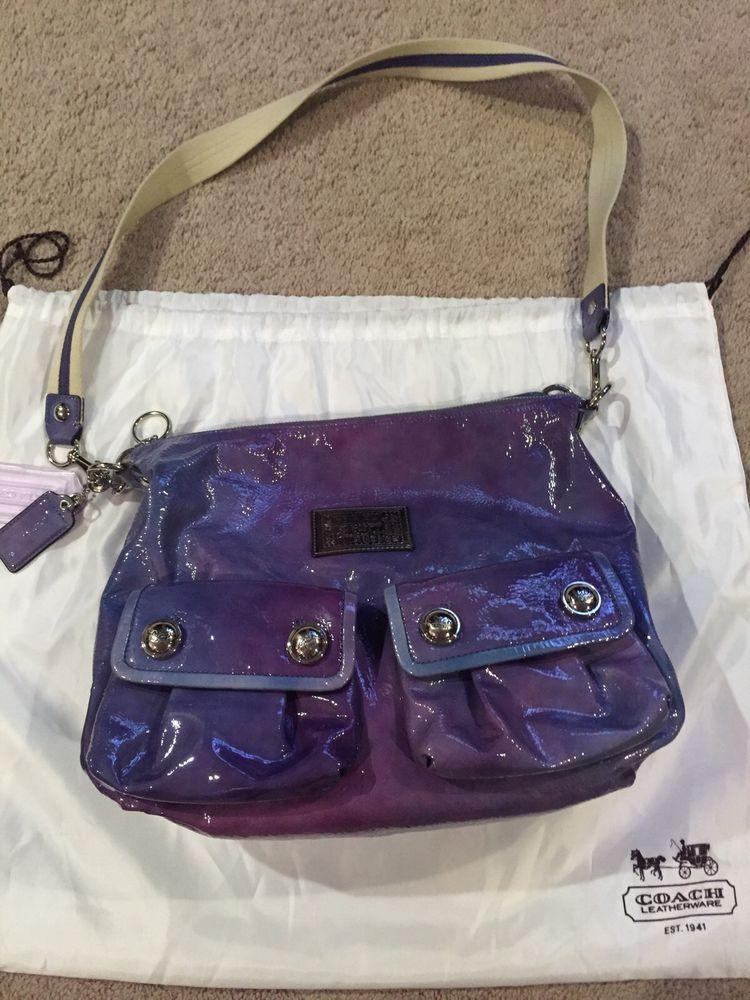 Coach Purple Tye Dye Pocket Hobo Handbag  Coach  Hobo   ebay ... fcabc71439