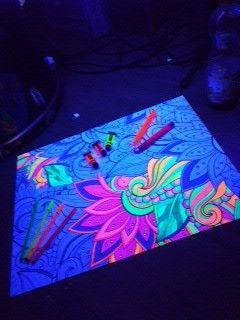#neon #puzzle #diy #uv #uvlicht #schwarzlicht #blacklight #psy