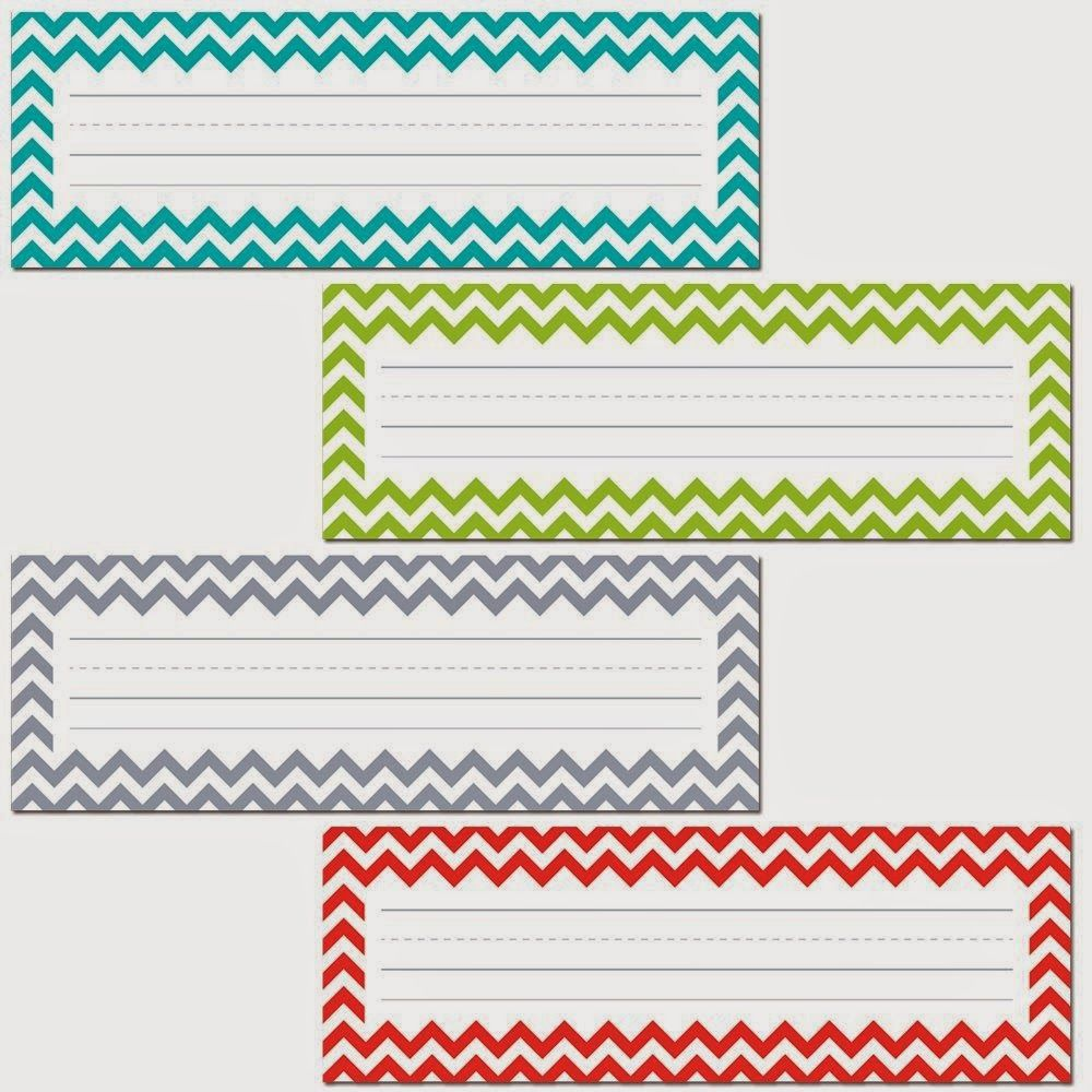 Creative Teaching Press Chevron Solids Name Plates Personalize Doors Desks Seats At The Table Cubbies Or Folders With These Colorful