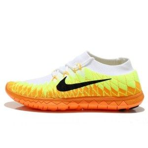 sports shoes 205b4 1beec Nike Free 3.0 Flyknit Chaussures Homme Orange Volt