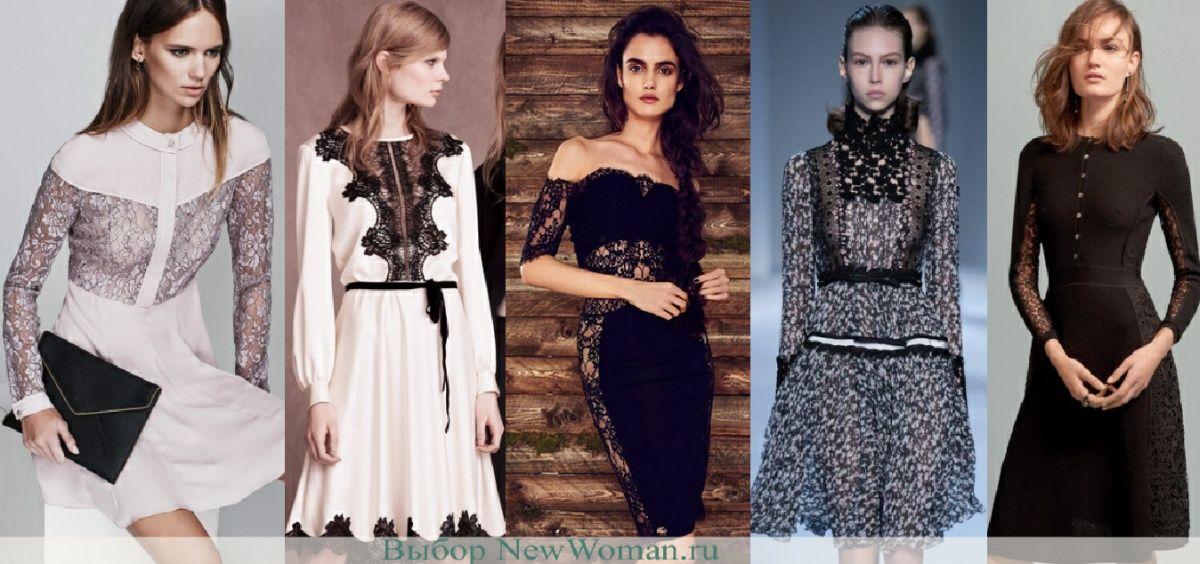Модный тренд 2017 - платья с кружевной вставкой  cba015c197770