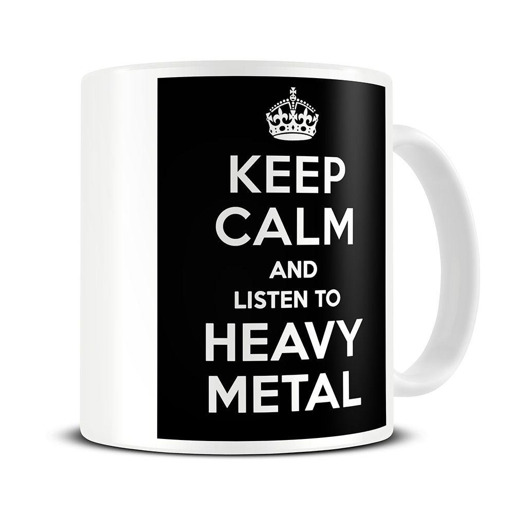 Sleek Listen To Heavy Metal Coffee Mug Gift Vintage Metal Coffee Cups Are Metal Coffee Cups Safe Magoo Mugs Magoo Keep