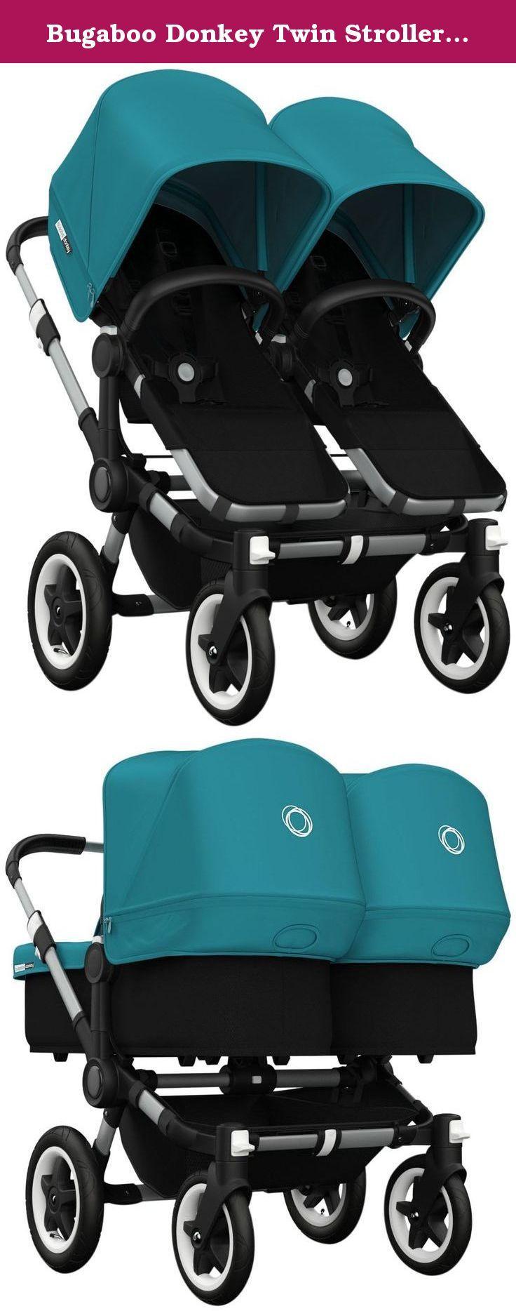 Bugaboo Donkey Twin Stroller Bundle Petrol Blue