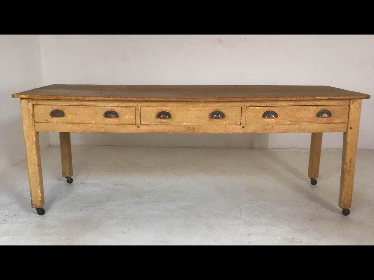 20th Century Pine Baker\'s Table/ Kitchen Table/ Farmhouse ...