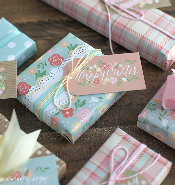 Printable easter gift tags and gift wrap from easter wraps and printable easter gift tags and gift wrap from lia griffith negle Choice Image