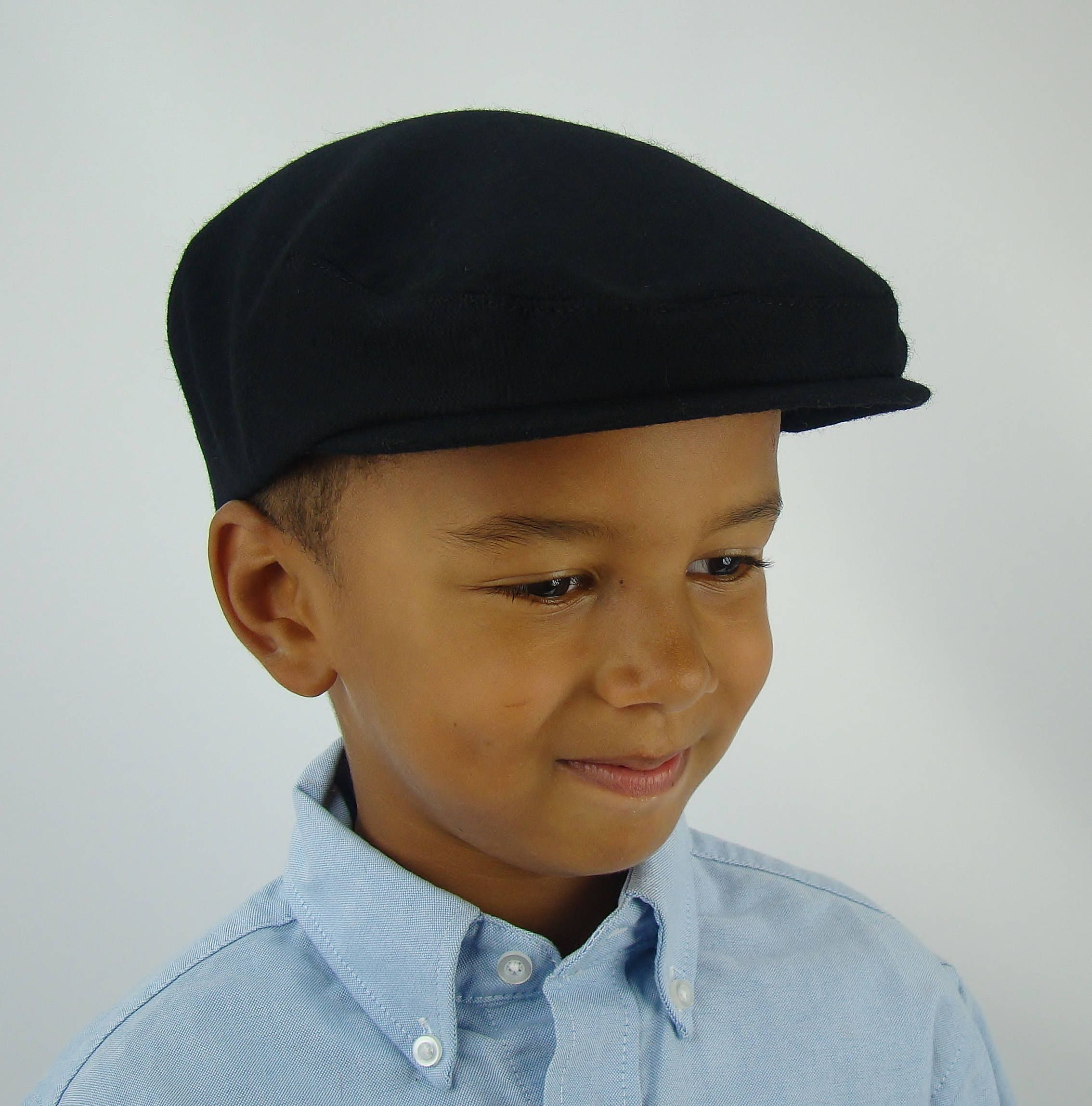 27502983b Black Wool Sixpence Ivy Hat - Flat Jeff Cap, Ivy Cap, Driving Cap ...