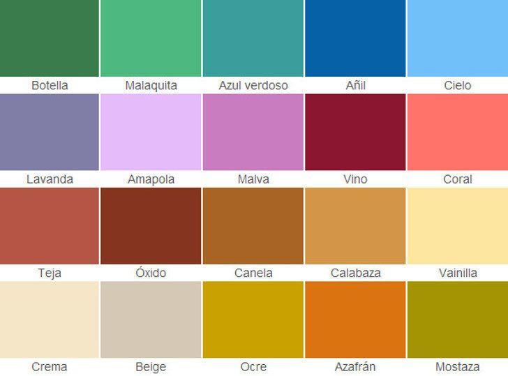 Carta de colores fachadas coloniales h pinterest for Tabla de colores de pintura