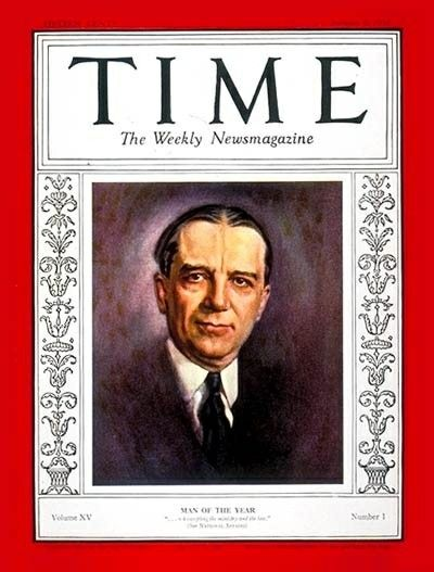 time magazine jan 6 1930 owen d young man of the year person