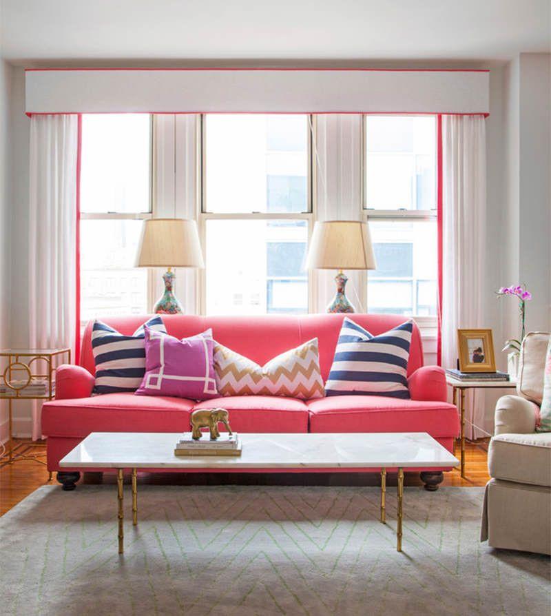 5 lindas inspirações de cores vivas para seu sofá deixar a sala ...