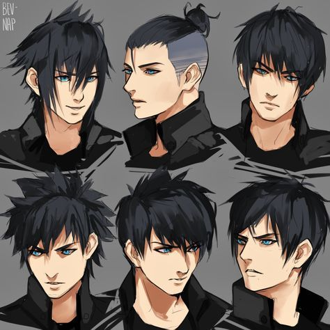 Estilos De Cabello Noctis Anime Hairstyles Male Manga Hair Anime Hair