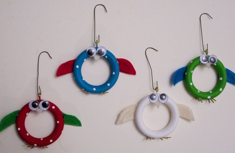 Birdie Ornaments Giveaway Curtain Rings Crafts Cheap Crafts