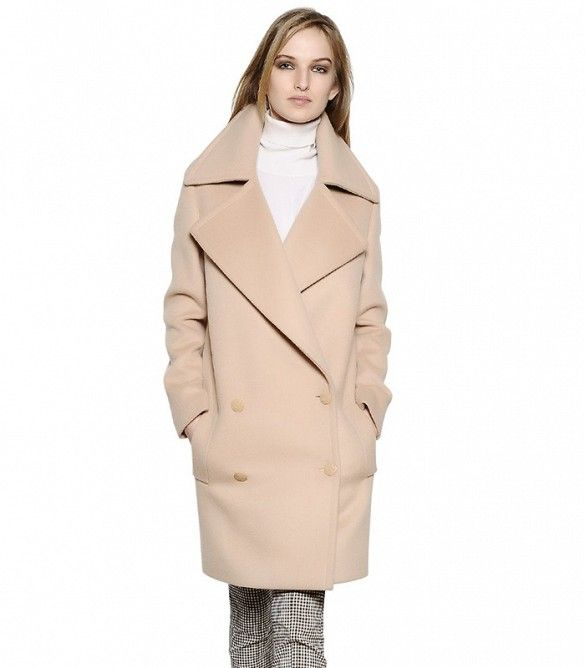 Stella McCartney Double Breasted Compact Wool Coat ($2195)