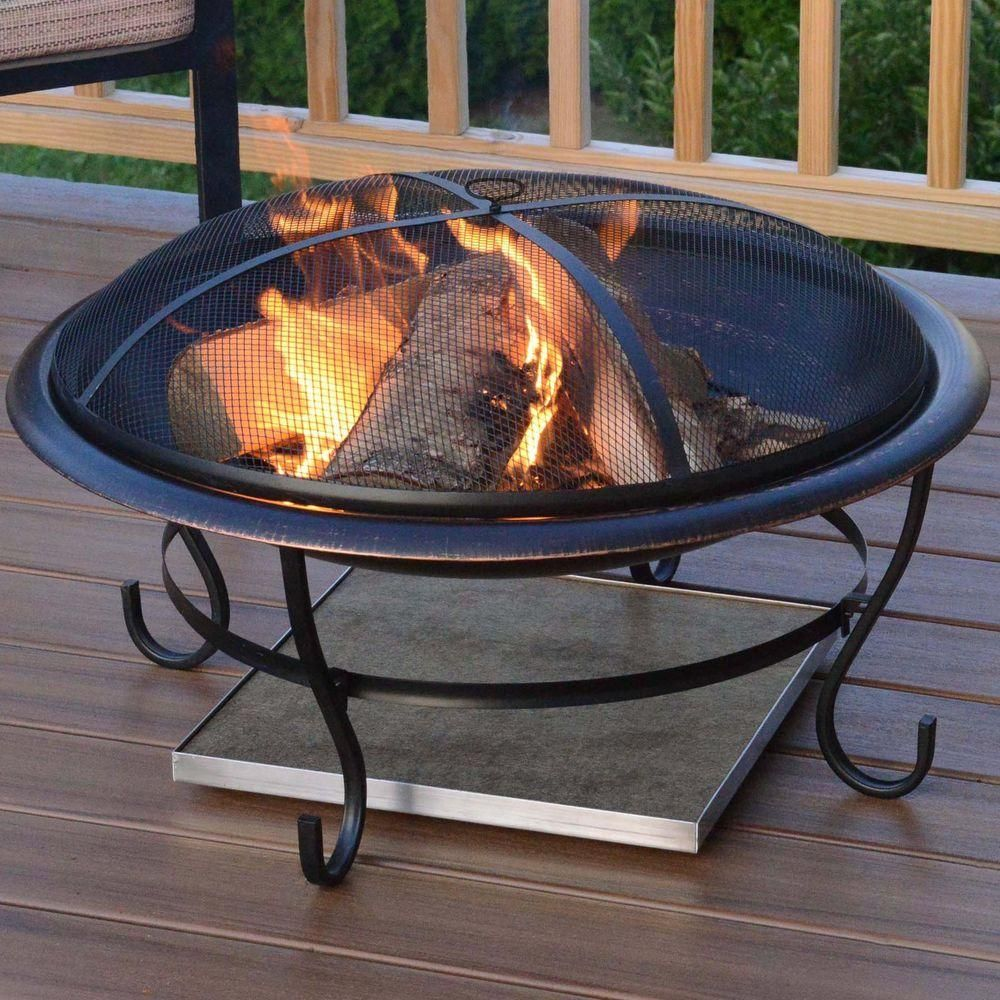 Infinite Heat Solutions Deck Protect 24 In X 24 In Fire Pit Chiminea Deck Protector 3002 The Home Depot Fire Pit Mat Deck Fire Pit Fire Pit On Wood Deck