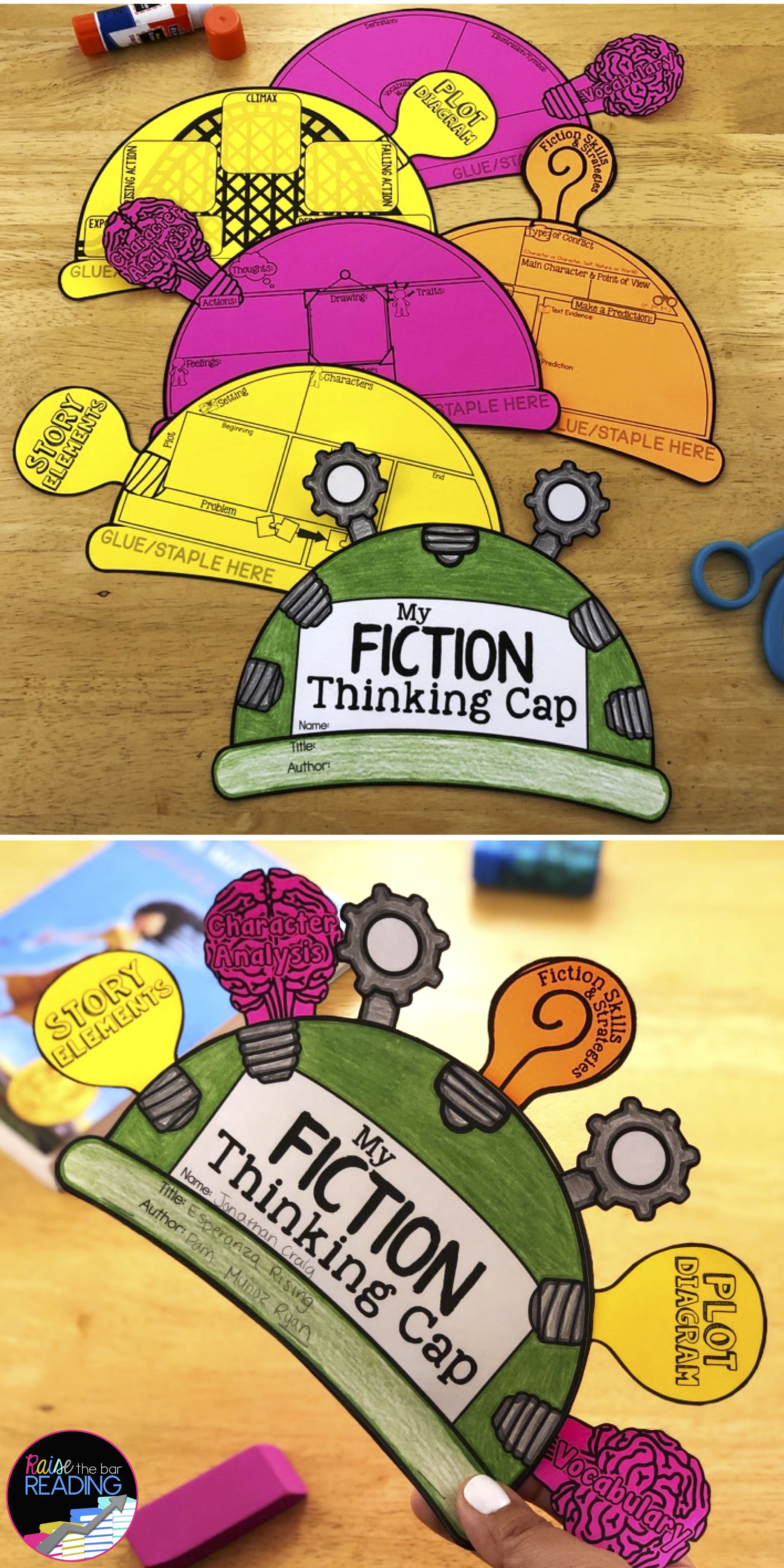 Fiction Thinking Caps Fiction Reading Activities Reading