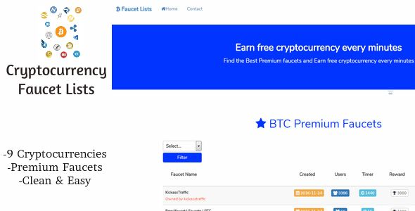 Cryptocurrency Faucet List | Code-Scripts-and-Plugins