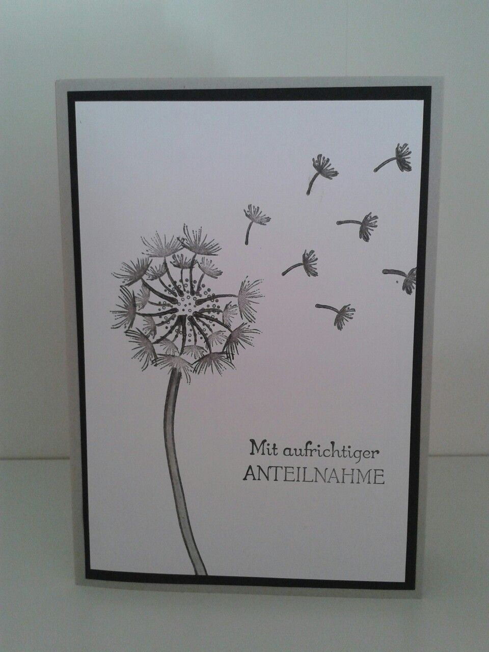 Trauerkarte pusteblume