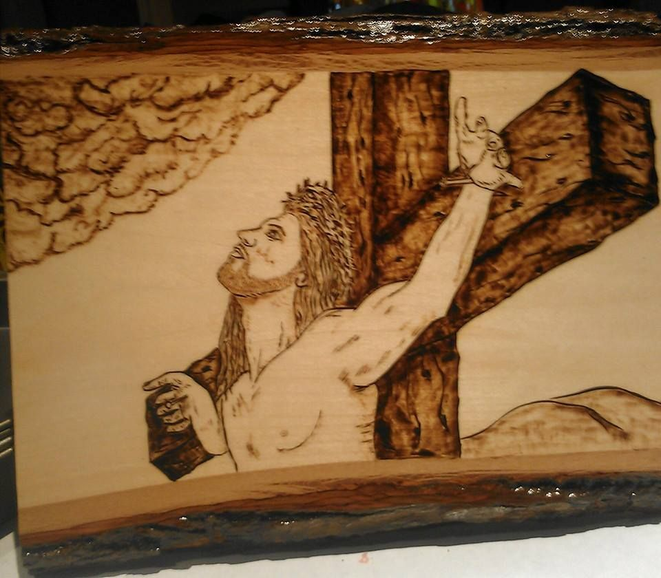 jesus on the cross wood burning pinterest bible