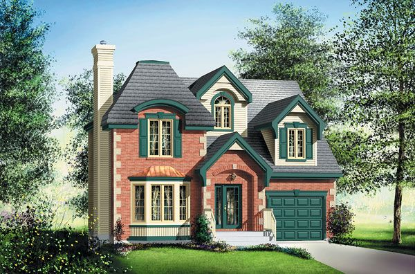 Victorian House Plan chp-32137 at COOLhouseplans.com