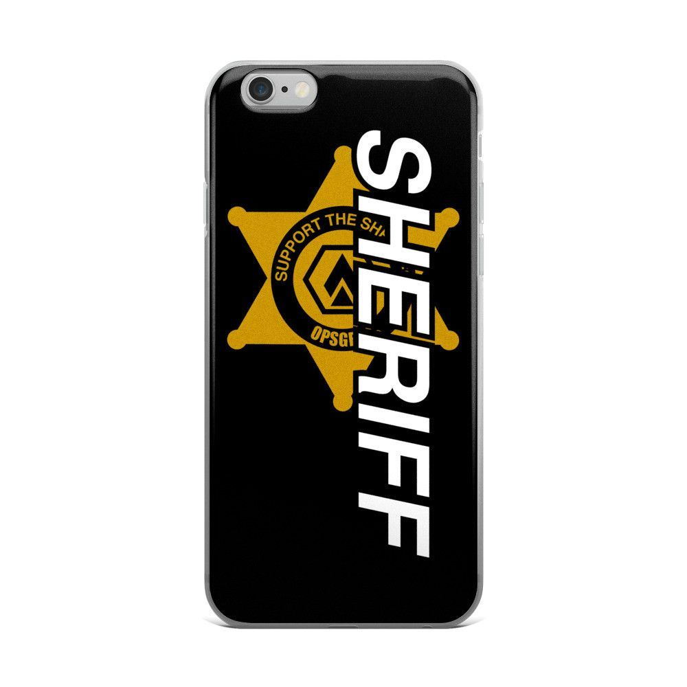 Support The Sheriff's iPhone case