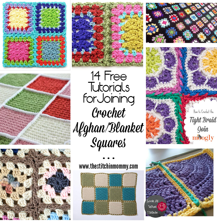 14 Free Tutorials for Joining Crochet Afghan/Blanket Squares | Manta ...