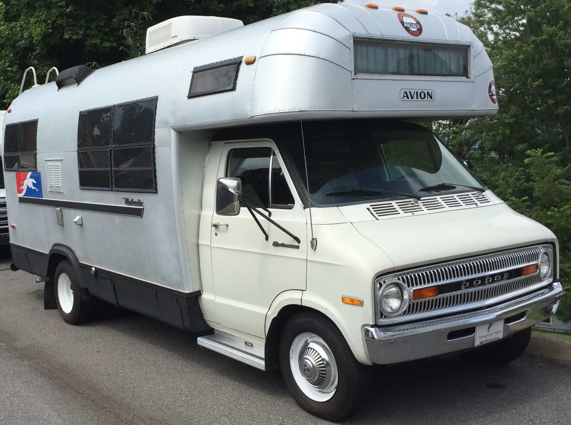 1973 Avion Cayo Motivator Motorhome Dodge pic taken July 2015 at