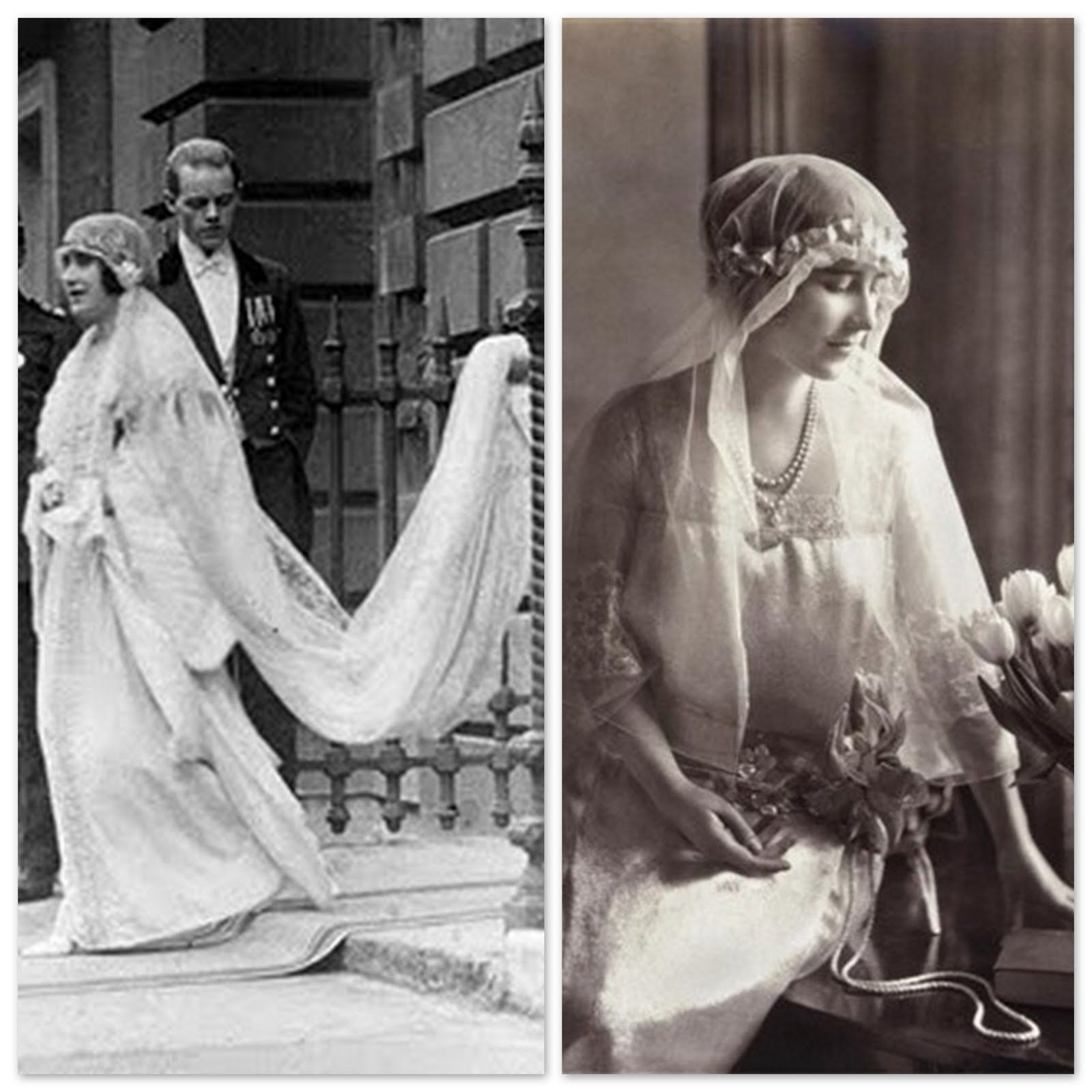 Elizabeth Angela Marguerite Bowes Lyon In 1923 She Married Albert Duke Of York The Second Son Of King George Royal Wedding Dress Queen Mother Vintage Bride