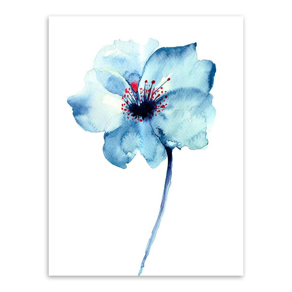 Abstract watercolor flower 1 piece wall art free global