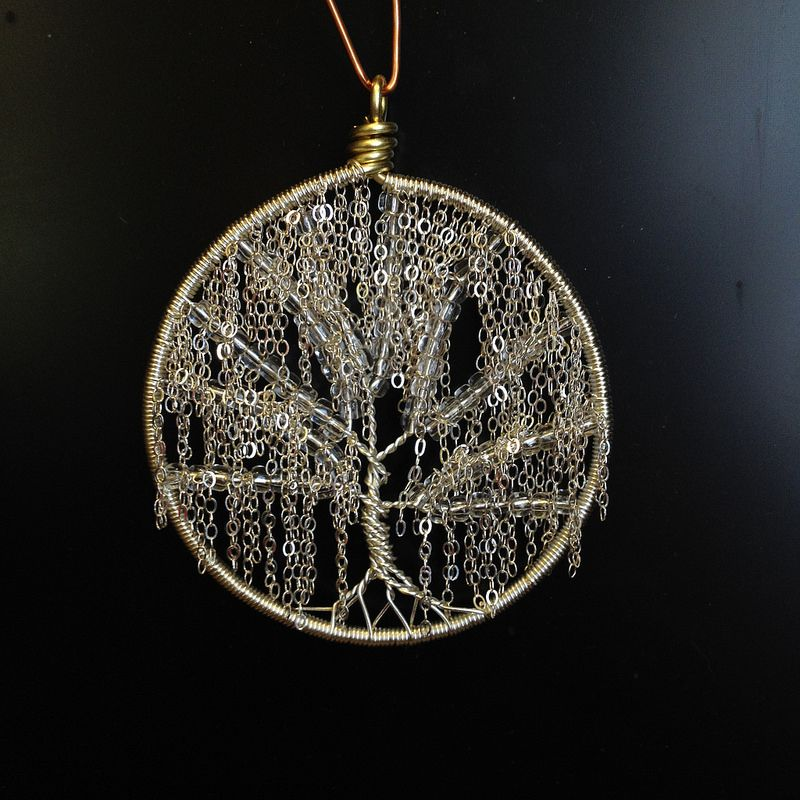 Weeping Willow Style Tree Of Life Wire Sculpture