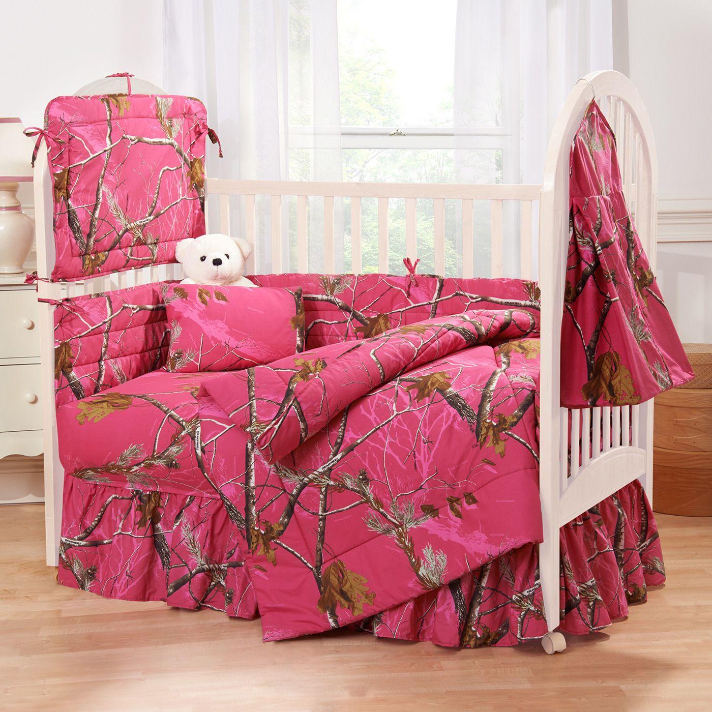 Camo Crib Bedding For Girl Camo crib bedding, Pink crib