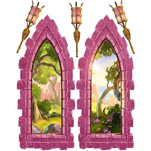 Pink Castle Windows Wall Decals *** Visit the image link more details. (NoteAmazon affiliate link)  sc 1 st  Pinterest & Pink Castle Windows Wall Decals *** Visit the image link more ...