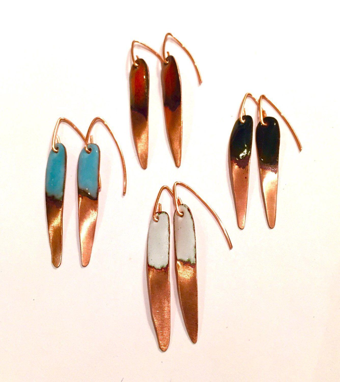 A personal favorite from my Etsy shop https://www.etsy.com/listing/257620123/handmade-glass-enamel-dangle-earrings
